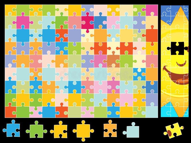 Sunshine Puzzle Pieces Stock Photo