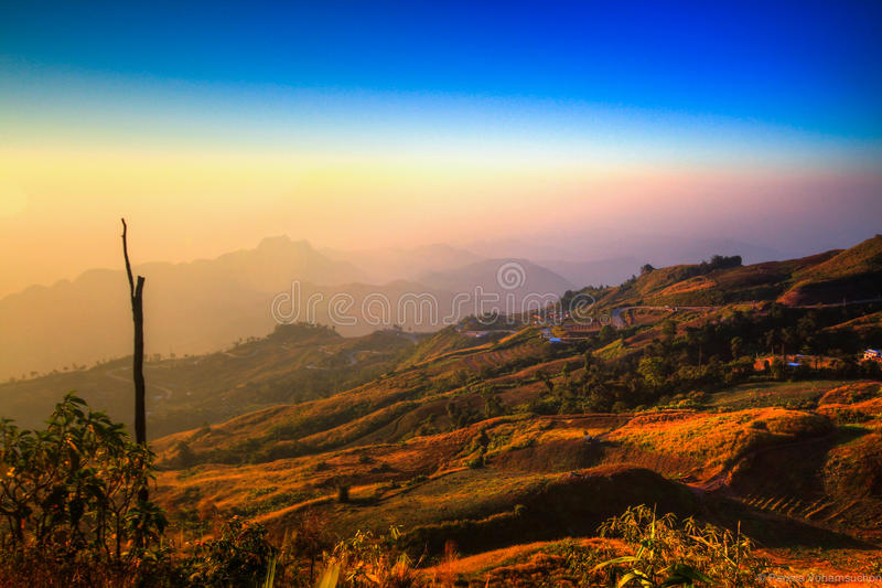 Sunshine and scenic route royalty free stock photography