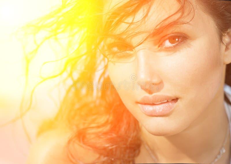 Sunshine Girl Portrait royalty free stock photography