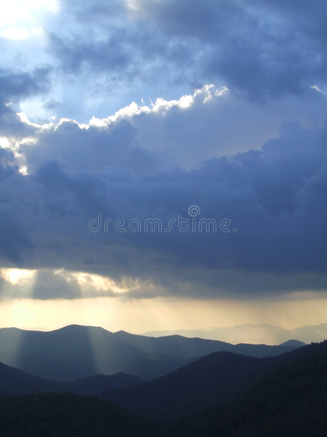 Sunshine and Storm royalty free stock images