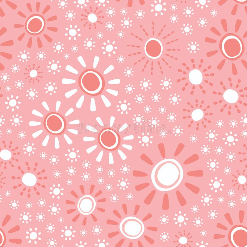 Free Sunshine Vector Pattern Design. Cute And Fun Seamless Repeat Weather Background. Stock Photos - 191365623