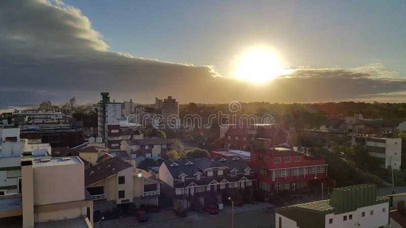 Sunshine villa Gesell stock photo