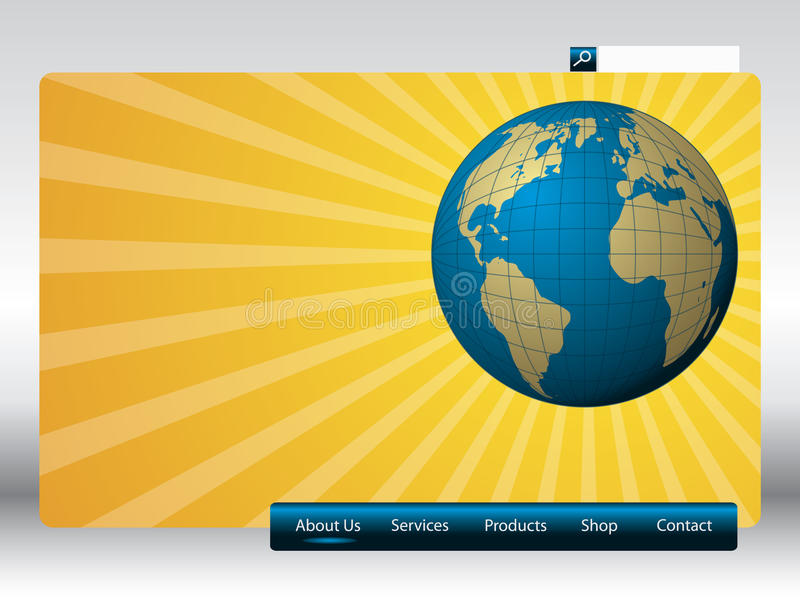 Download Sunshine web template stock vector. Illustration of page - 14029427