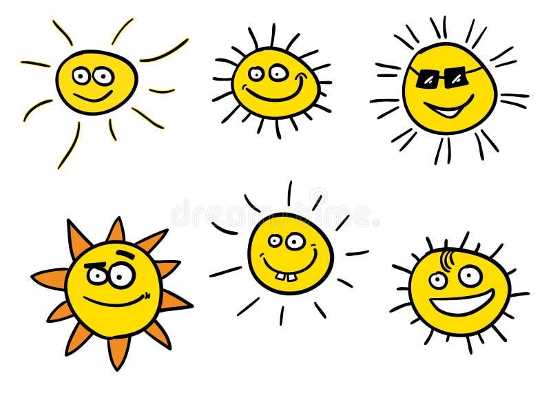 Sunshines de sourire illustration de vecteur