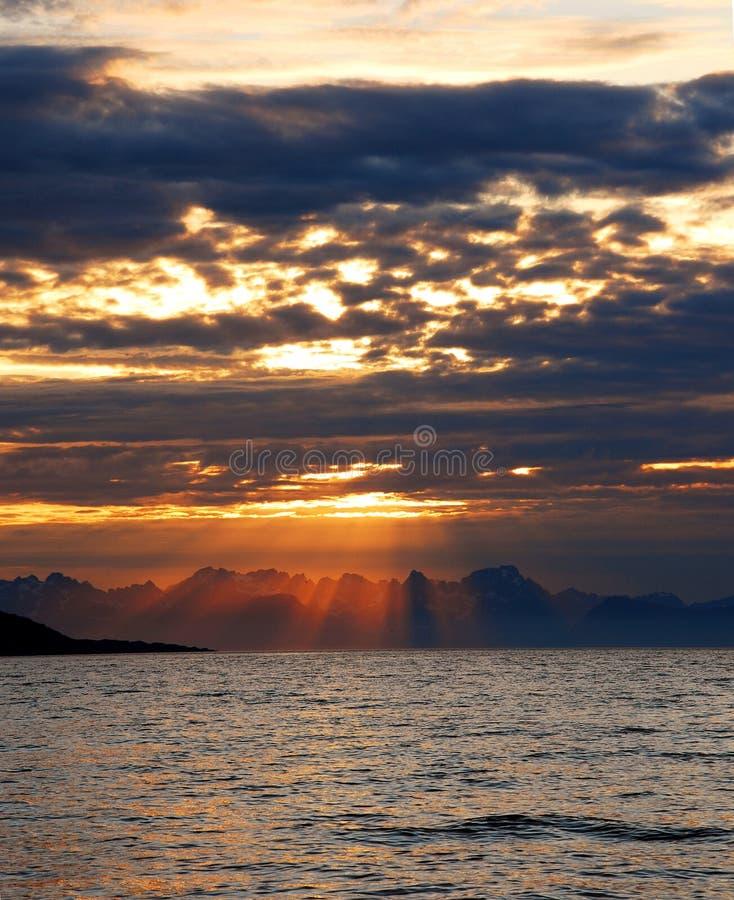 Sunshines no beira-mar imagem de stock royalty free