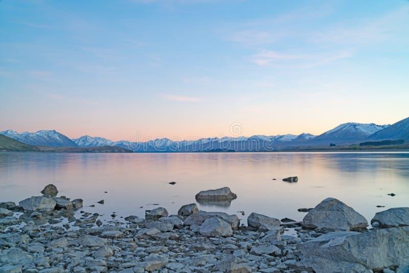 Sunsise de Tekapo de lac image libre de droits