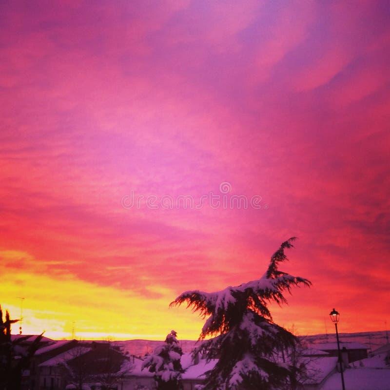 Sunsnow kolory zdjęcia royalty free