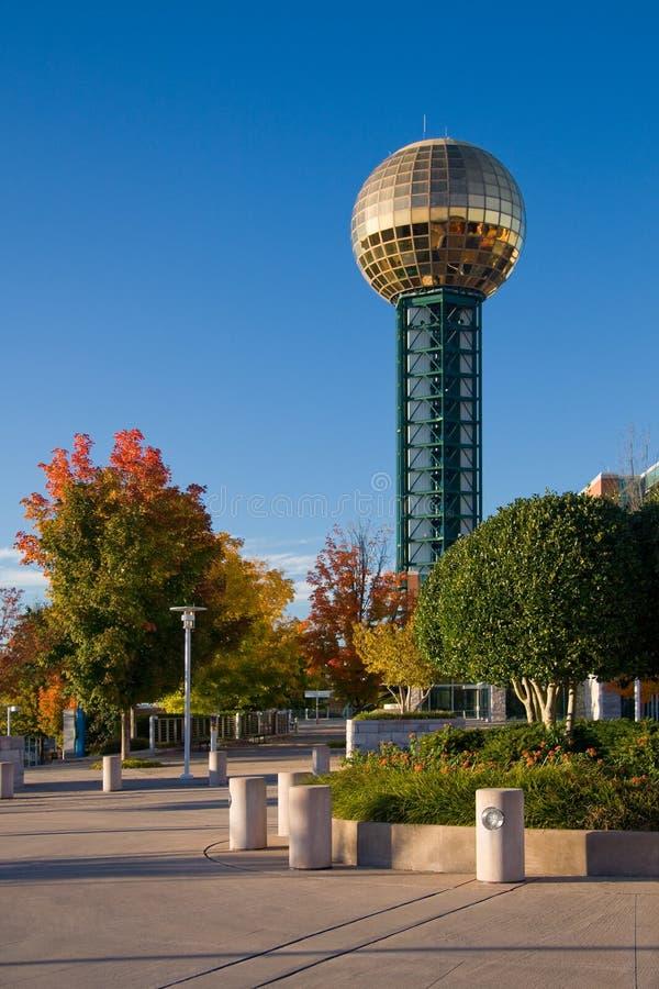 Sunsphere et stationnement de l'Exposition universelle photos libres de droits