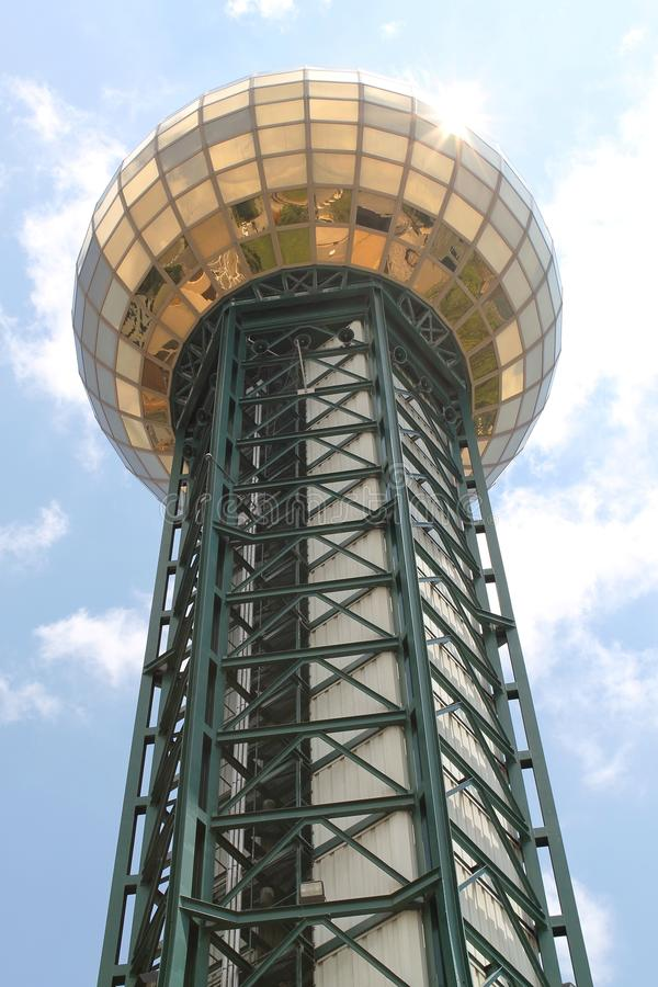 Sunsphere ha individuato a Knoxville Worlds Fair Site immagine stock