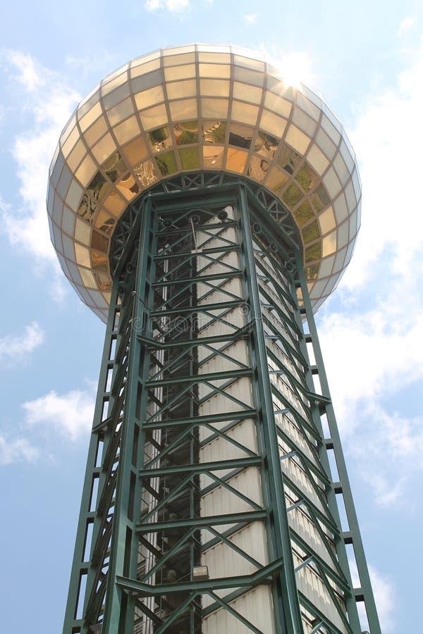 Sunsphere a placé chez Knoxville Worlds Fair Site image stock