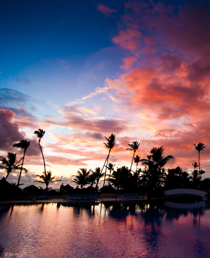Sunsrise do Cararibe fotos de stock royalty free