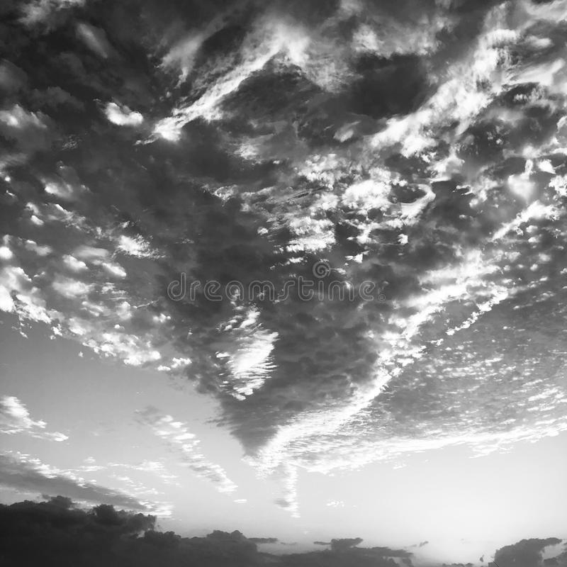 Sunsrt niebo nad Destin plaża zdjęcie royalty free