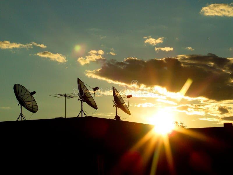 sunstar的通信 库存照片