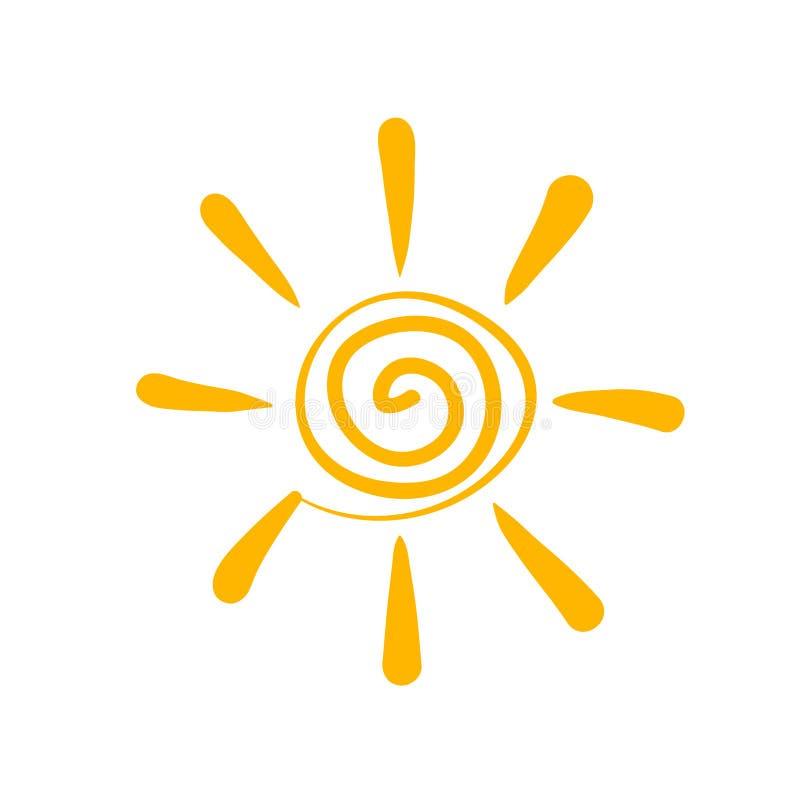 sunsymbol vektor illustrationer