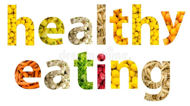 Sunt äta för frukter och för grönsaker royaltyfri illustrationer