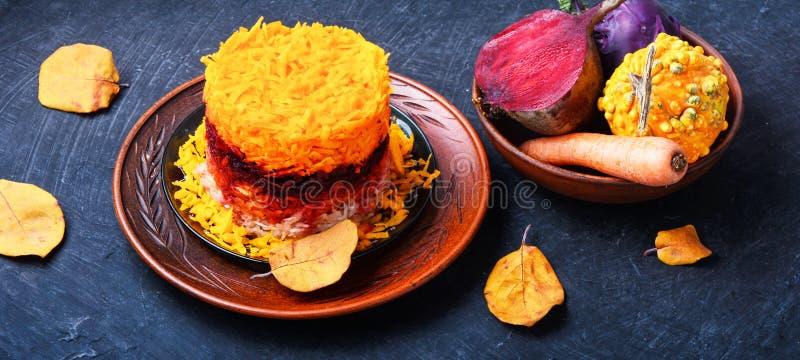 Sunt äta för vegetarisk sallad Strikt vegetarian bantar royaltyfria foton