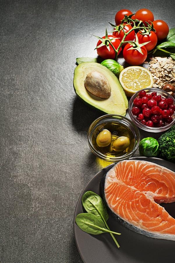Sunt banta foods för hjärtakolesterol och sockersjuka arkivfoto