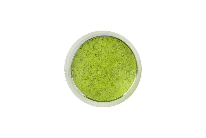 Sunt drinkbegrepp med grönt te med bunken arkivfoton