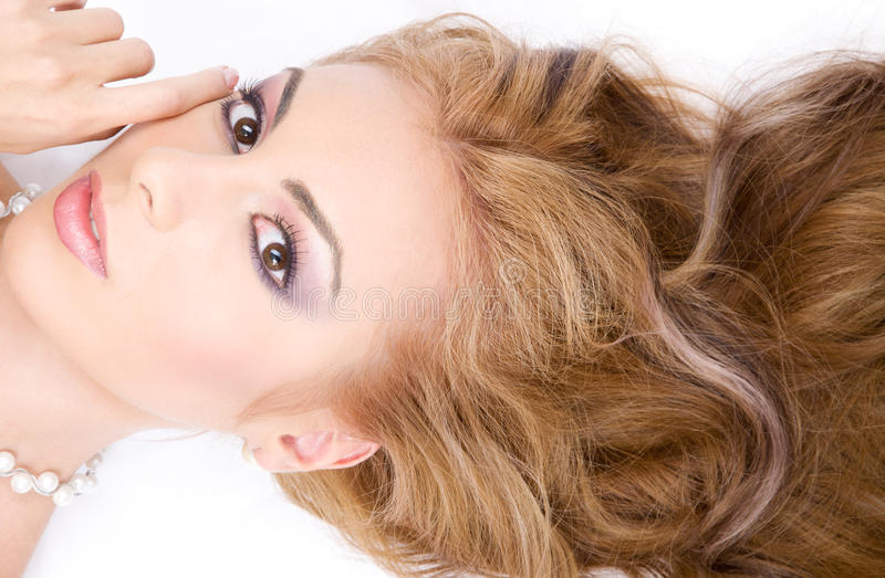 sunt hår fotografering för bildbyråer