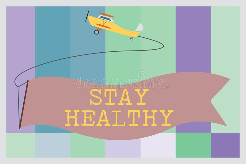 Sunt stag för ordhandstiltext Affärsidéen för uppehälleallsidig kost tål bra fysiskt villkor och wellness vektor illustrationer