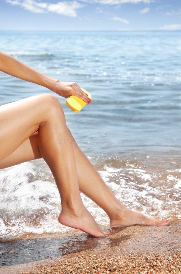 Download Suntan beauty stock photo. Image of serenity, girl, bikini - 6165274