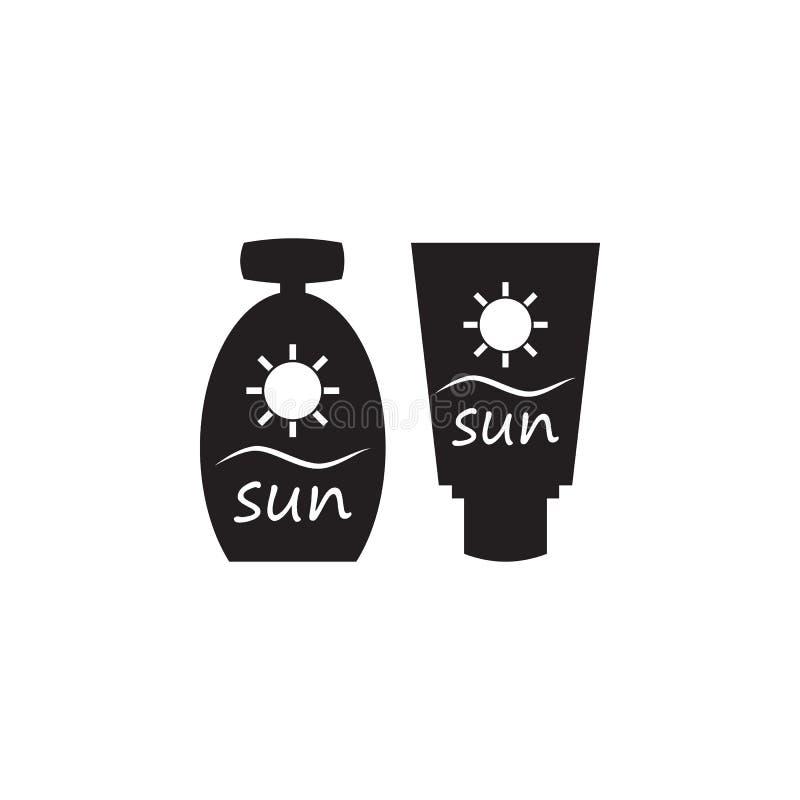 suntan cream icon. Elements of beach holidays icon. Premium quality graphic design. Signs and symbols icon for websites, web desig vector illustration