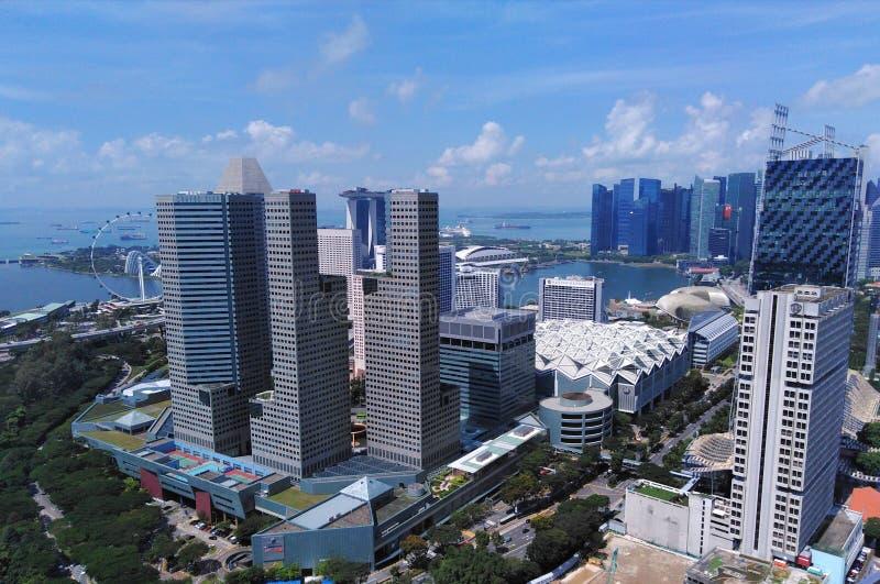 Suntec miasto przy Marina zatoką, Singapur zdjęcia stock