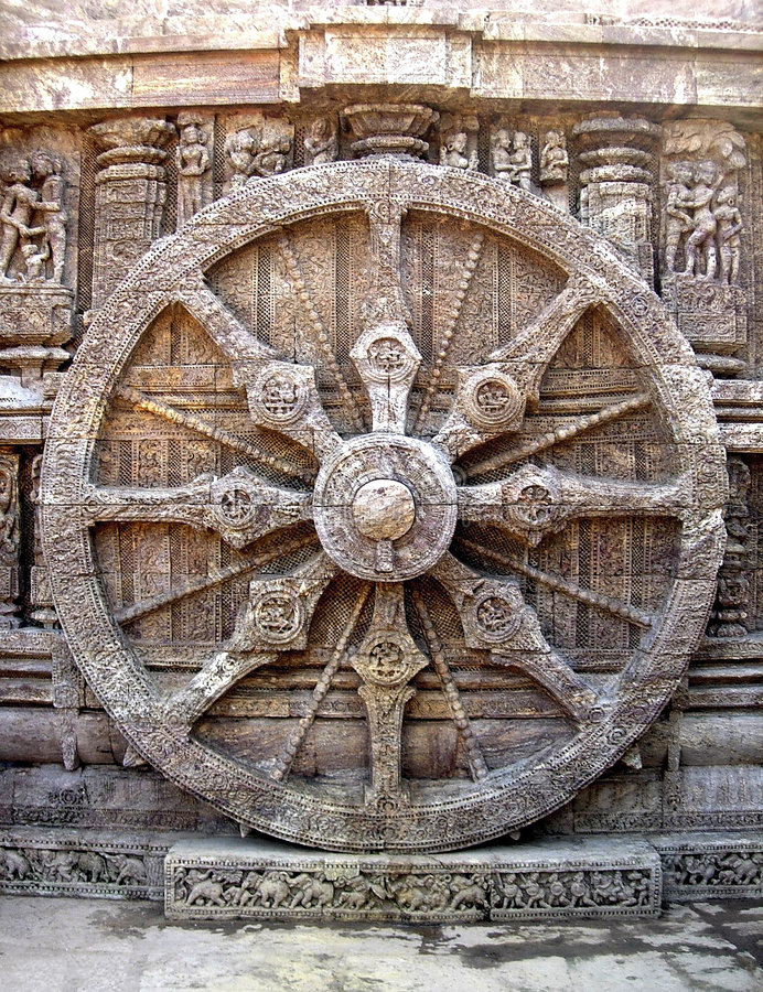 SunTemple_Wheel fotografia de stock royalty free