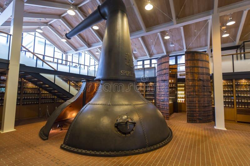 Suntory Yamazaki Whisky muzeum Japonia fotografia royalty free