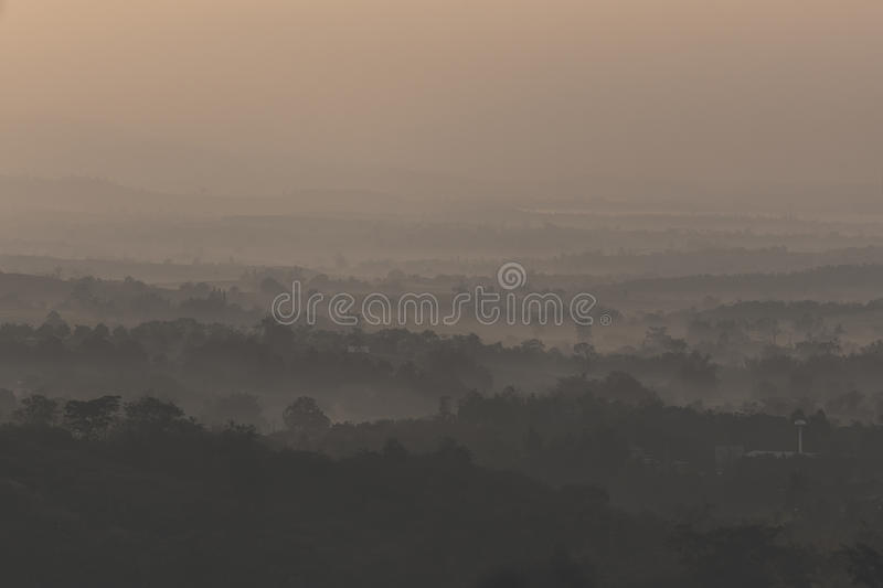 Suntrise over the hills royalty free stock photo