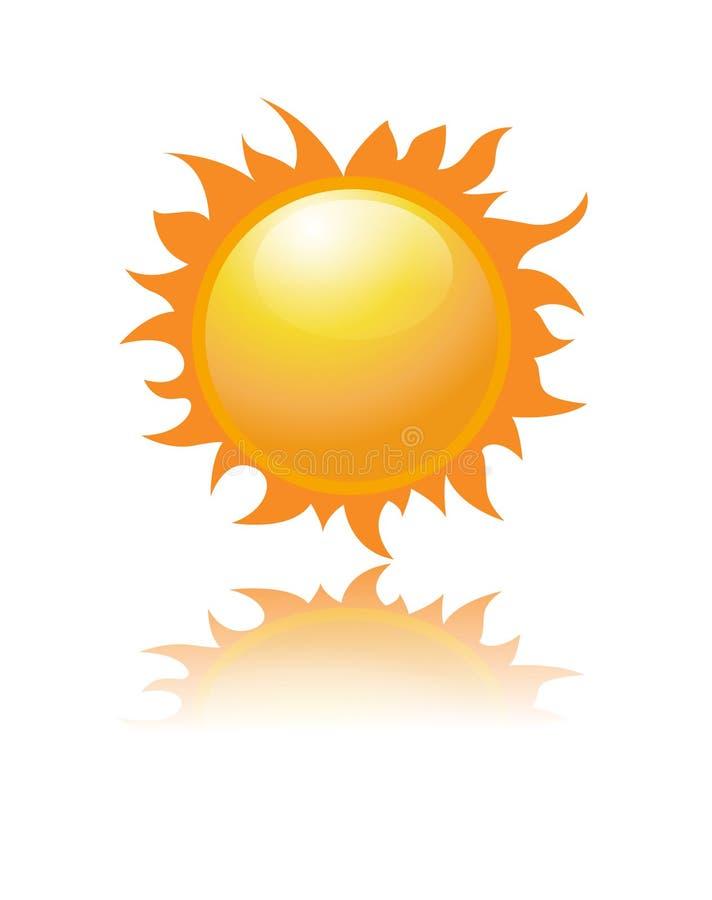 sunvektor stock illustrationer