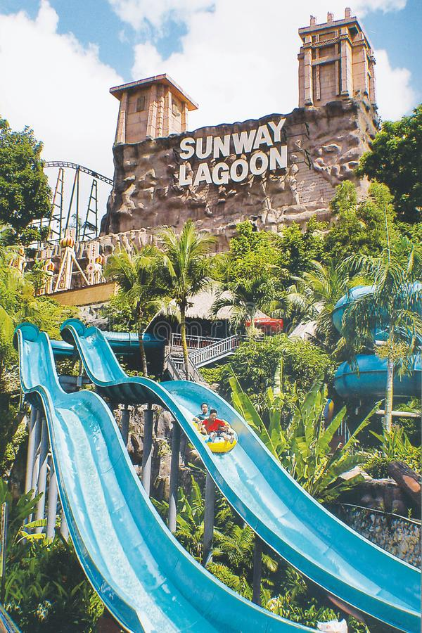 SUNWAY LAGOON. The Sunway Lagoon is a theme park in Bandar Sunway, Subang Jaya, Selangor, Malaysia owned by Sunway Group stock image