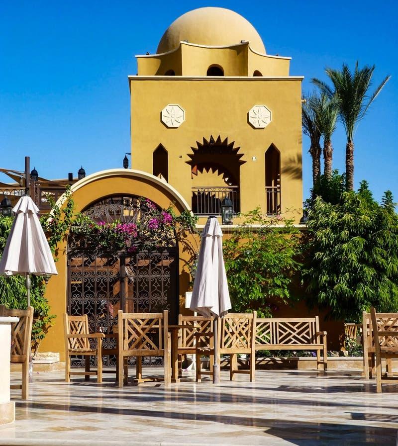 Sunwing hotellMakadi fjärd Egypten fotografering för bildbyråer
