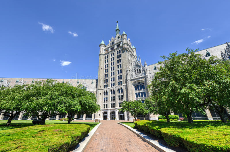 SUNY System Administration Building. The SUNY System Administration Building, formerly the Delaware & Hudson Railroad Building. A public office building located royalty free stock image