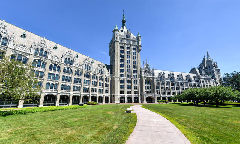 SUNY System Administration Building. The SUNY System Administration Building, formerly the Delaware & Hudson Railroad Building. A public office building located stock photo