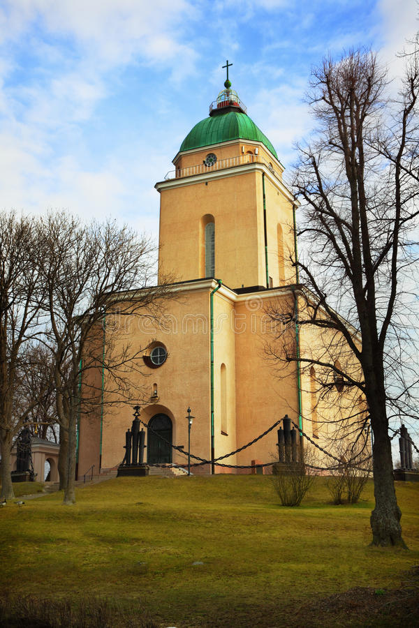 Suomenlinna church in Helsinki stock photos