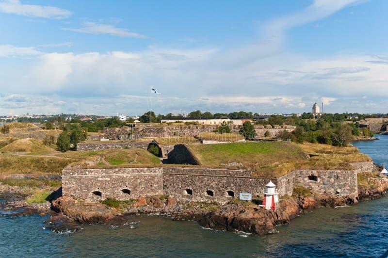 Suomenlinna Festung in Helsinki stockfotos