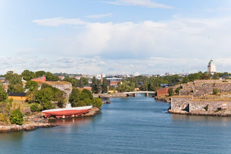 Suomenlinna Festung in Helsinki stockbild