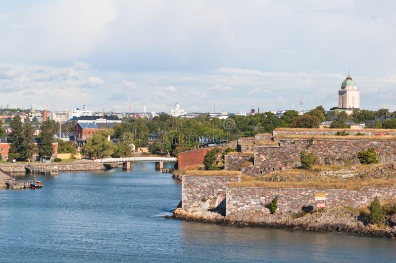 Suomenlinna Festung in Helsinki stockfotografie