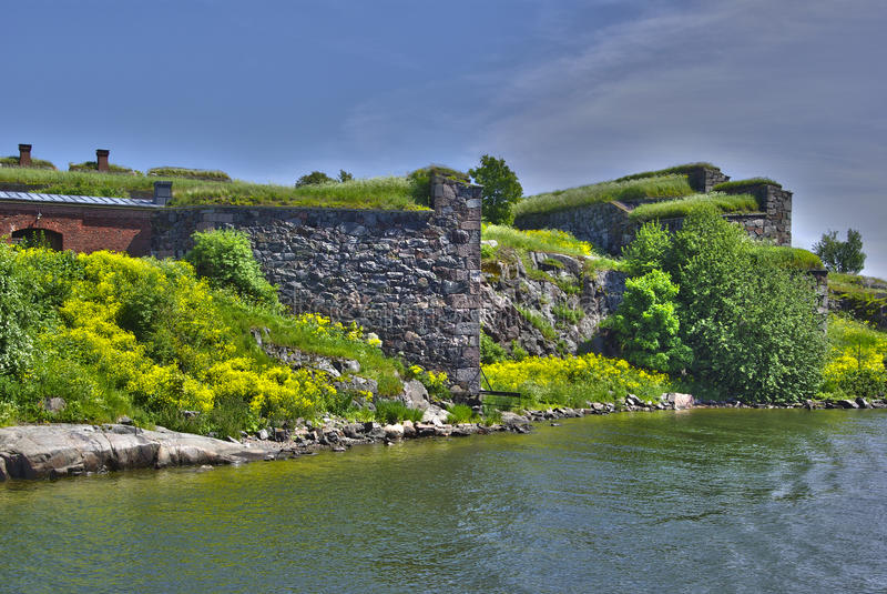 Suomenlinna - fortaleza do mar de sweden imagem de stock