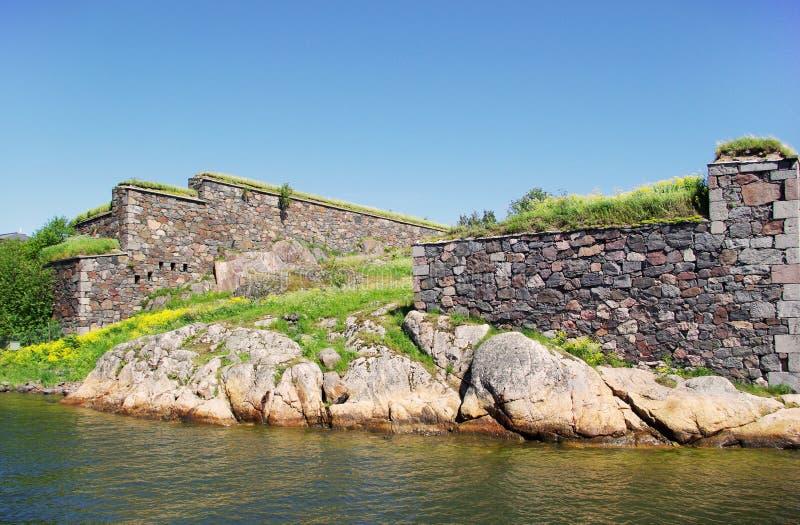 Suomenlinna - fortaleza do mar de sweden fotografia de stock royalty free