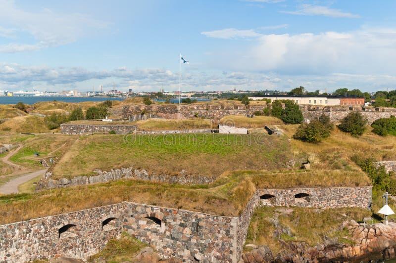 Suomenlinna fortress in Helsinki royalty free stock photography