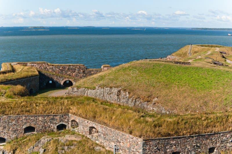 Suomenlinna fortress in Helsinki stock photo