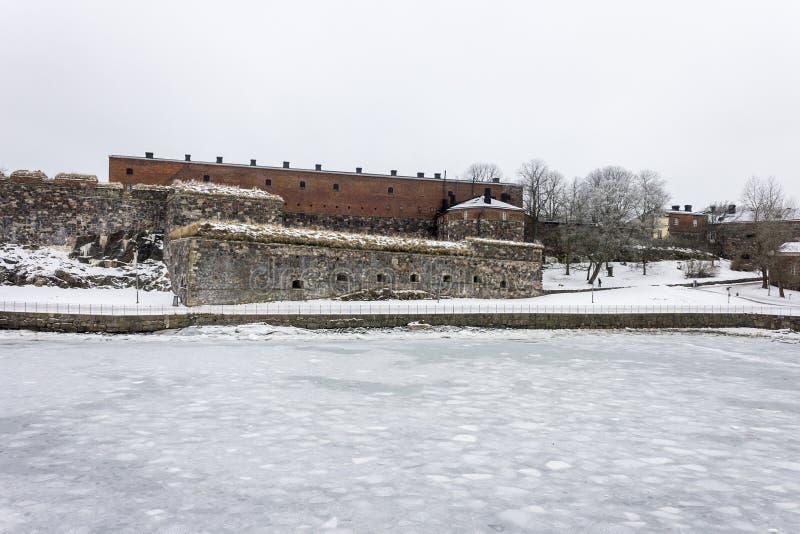 Suomenlinna-Inselfestung, Helsinki, Finnland lizenzfreies stockbild
