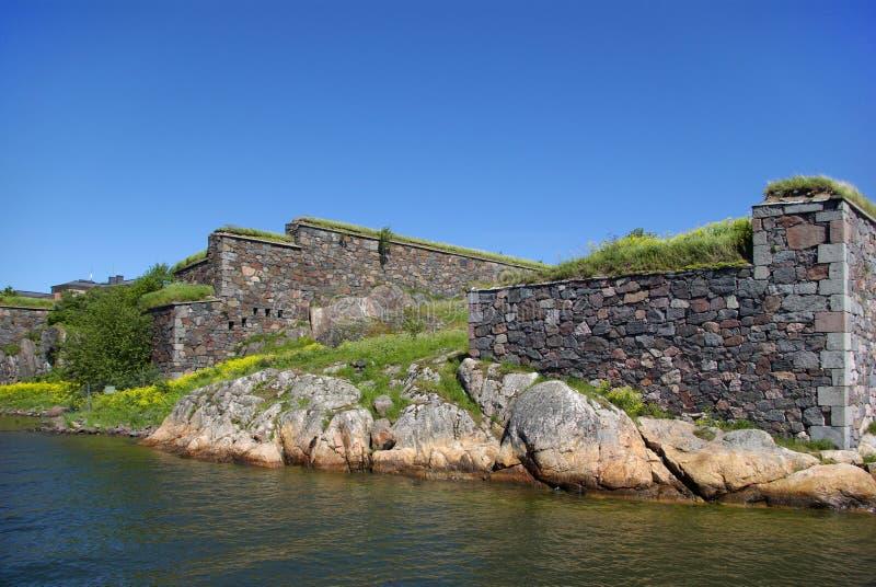 Suomenlinna - overzeese van Zweden vesting stock afbeelding
