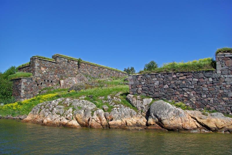 Suomenlinna - overzeese van Zweden vesting stock foto