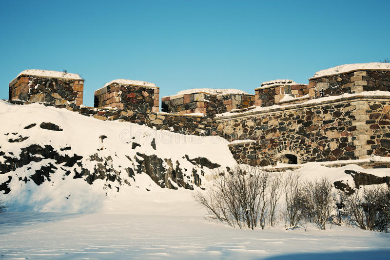 Download Suomenlinna Sea Fortress stock image. Image of snow, stone - 19015599