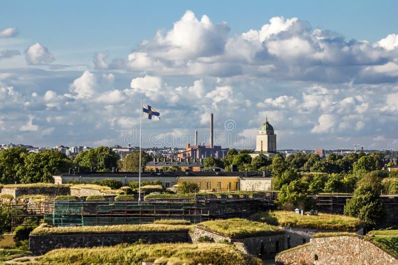 Suomenlinna-Seefestung auf den Inseln im Hafen von H lizenzfreies stockbild