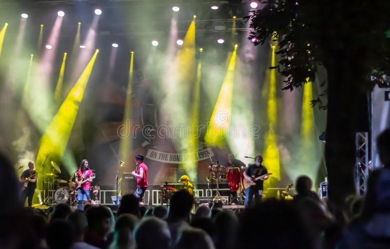 Suoni di Marca Festival 2019. On Sunday 4 August the lights of Brand Sounds went off: the Festival that for 18 days gave the city of Treviso lots of quality royalty free stock image