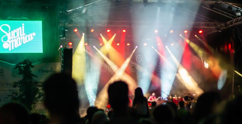 Suoni di Marca Festival 2019. On Sunday 4 August the lights of Brand Sounds went off: the Festival that for 18 days gave the city of Treviso lots of quality royalty free stock photos